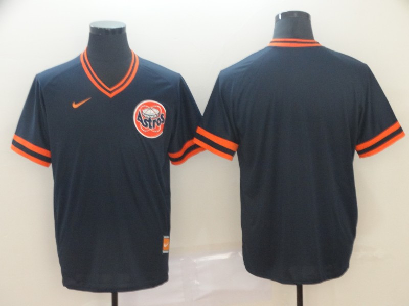 Men's Houston Astros Blank Navy Throwback Jersey