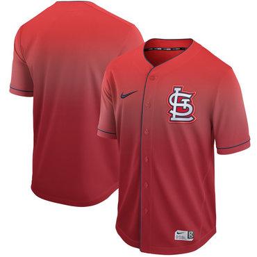 Men's St. Louis Cardinals Blank Red Drift Fashion Jersey