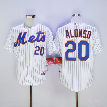 Men's New York Mets 20 Pete Alonso White Flexbase Jersey