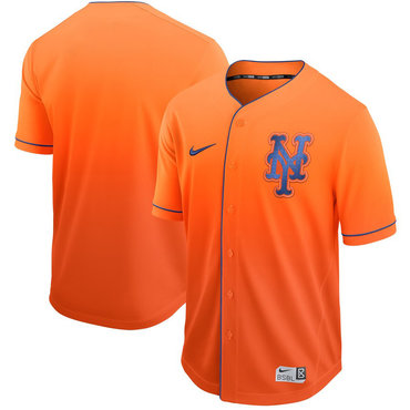 Men's New York Mets Blank Orange Drift Fashion Jersey