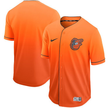 Men's Baltimore Orioles Blank Orange Drift Fashion Jersey
