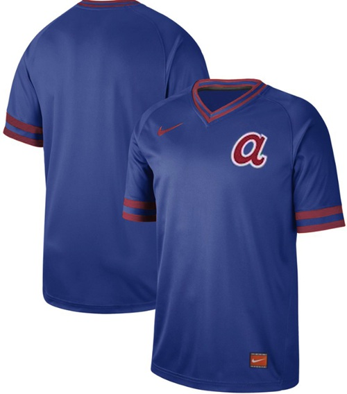 Braves Blank Royal Authentic Cooperstown Collection Stitched Baseball Jersey
