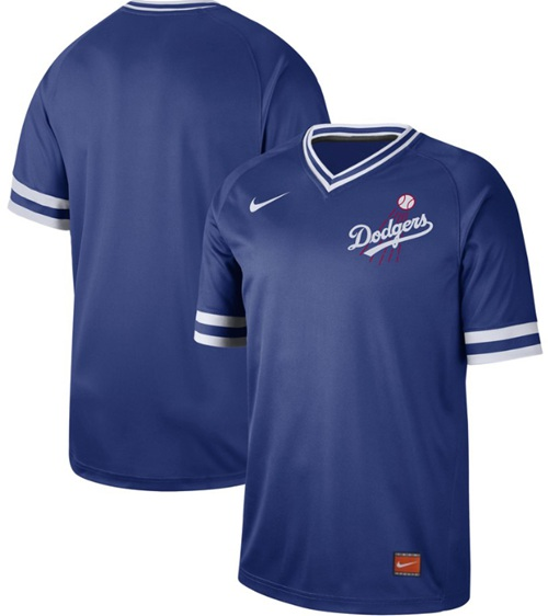 Dodgers Blank Royal Authentic Cooperstown Collection Stitched Baseball Jersey