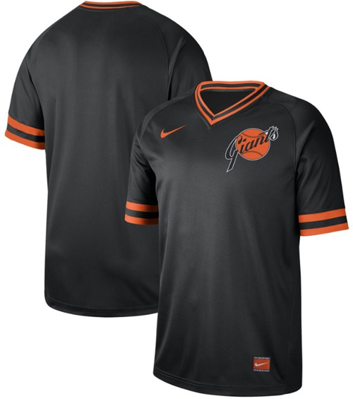 Giants Blank Black Authentic Cooperstown Collection Stitched Baseball Jersey