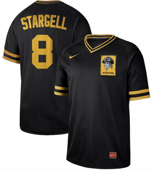 Pirates #8 Willie Stargell Black Authentic Cooperstown Collection Stitched Baseball Jersey