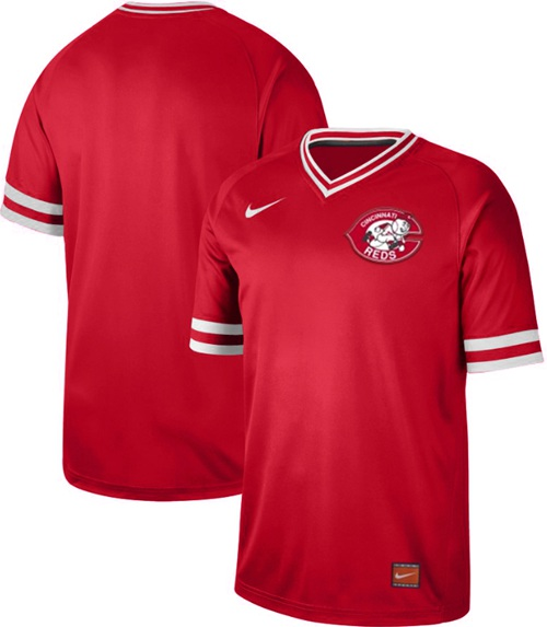 Reds Blank Red Authentic Cooperstown Collection Stitched Baseball Jersey