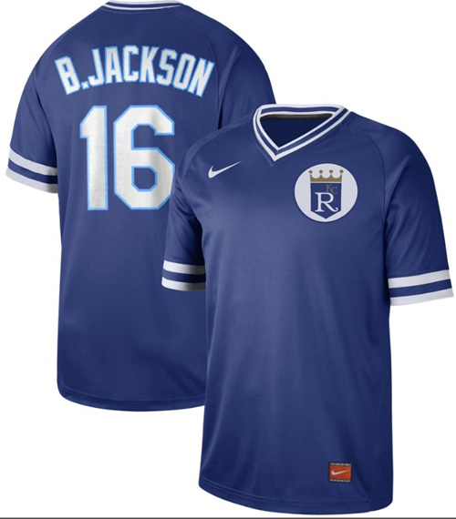 Royals #16 Bo Jackson Royal Authentic Cooperstown Collection Stitched Baseball Jersey