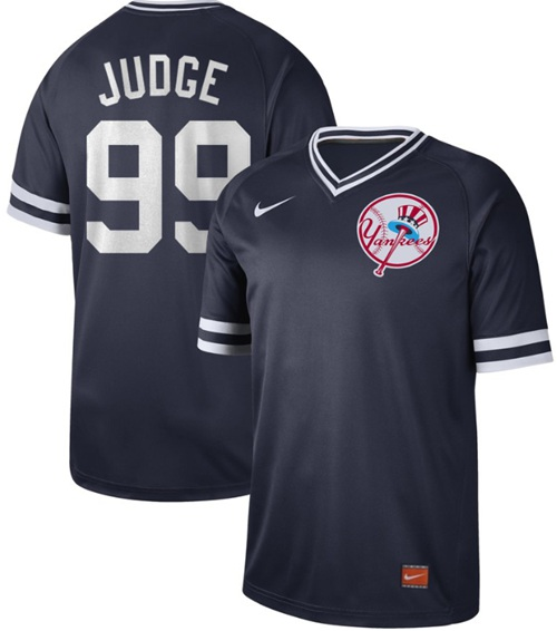Yankees #99 Aaron Judge Navy Authentic Cooperstown Collection Stitched Baseball Jersey