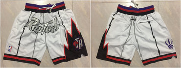 Toronto Raptors White Throwback Short