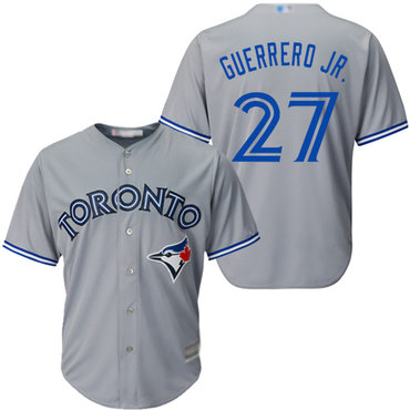 ef30f702be2 Blue Jays  27 Vladimir Guerrero Jr. Grey Cool Base Stitched Youth Baseball  Jersey