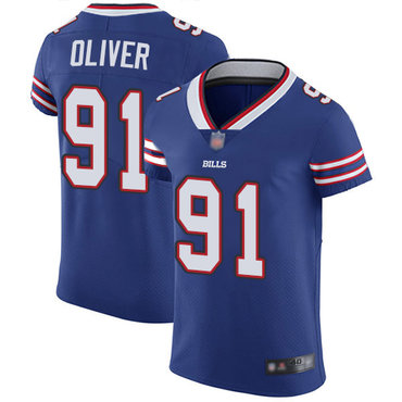 Bills #91 Ed Oliver Royal Blue Team Color Men's Stitched Football Vapor Untouchable Elite Jersey