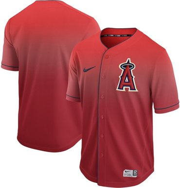 Angels of Anaheim Blank Red Fade Authentic Stitched Baseball Jersey