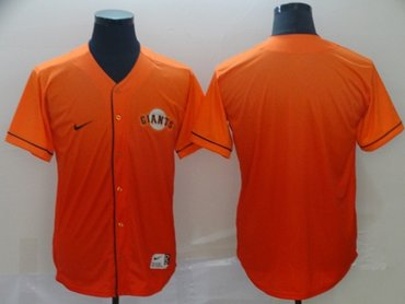 Giants Blank Orange Fade Authentic Stitched Baseball Jersey