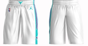 Men's Jordan Brand White Charlotte Hornets Icon Swingman Basketball Shorts