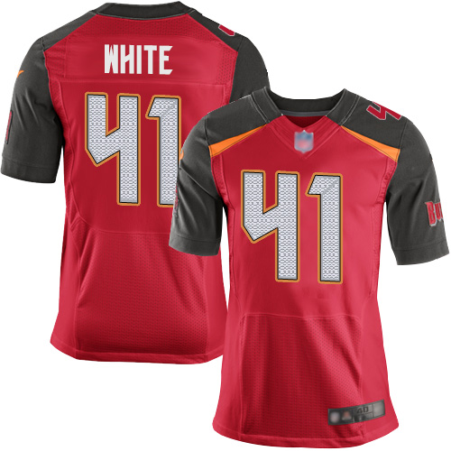 Buccaneers #41 Devin White Red Team Color Men's Stitched Football New Elite Jersey