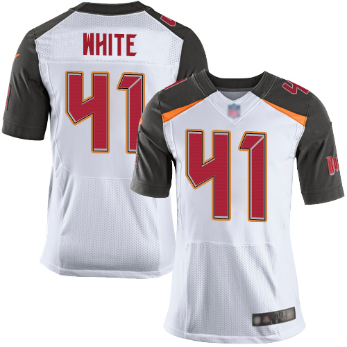 Buccaneers #41 Devin White White Men's Stitched Football New Elite Jersey