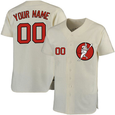 0575976238f Astros Cream Men s Customized Cool Base New Design Jersey