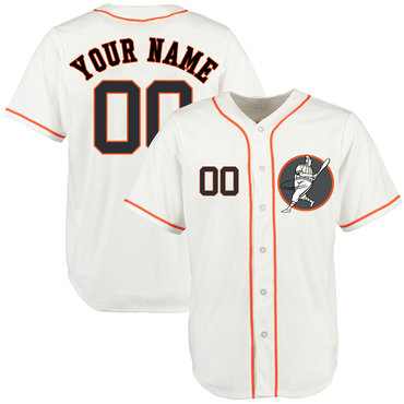 Astros White Men's Customized Cool Base New Design Jersey