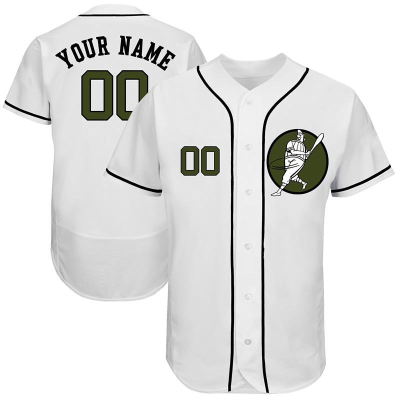 Astros White Men's Customized Green Logo Flexbase New Design Jersey