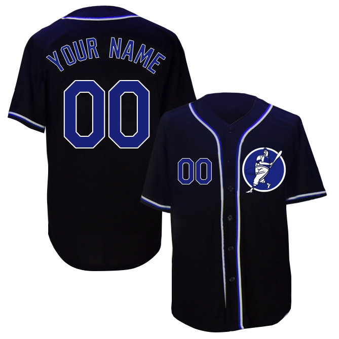 Dodgers Navy Men's Customized Cool Base New Design Jersey