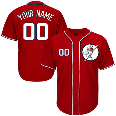 Nationals Red Men's Customized Cool Base New Design Jersey