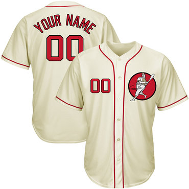 Nationals Cream Men's Customized Cool Base New Design Jersey