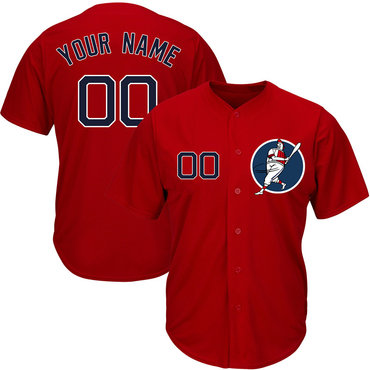 Red Sox Red Men's Customized Cool Base New Design Jersey