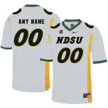 North Dakota State Bison White Men's Customized College Football Jersey