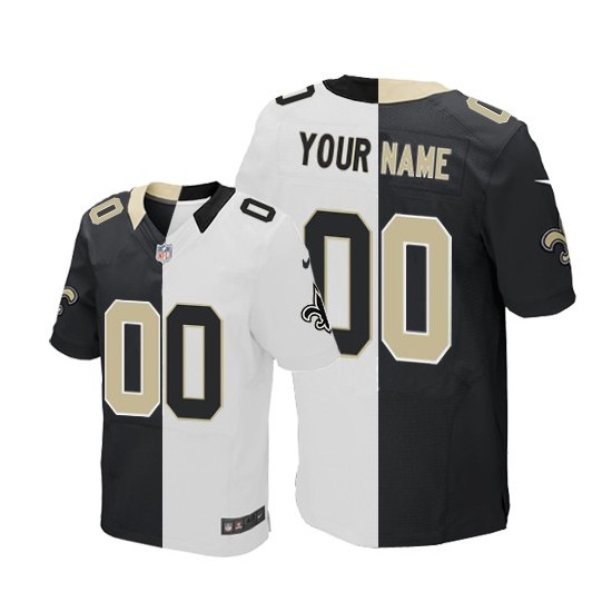 Nike New Orleans Saints Men's Customized Elite Team Road Two Tone Jersey