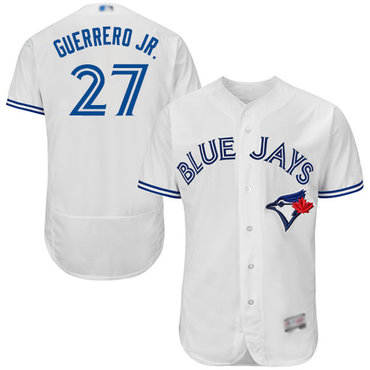 Men's Toronto Blue Jays #27 Vladimir Guerrero Jr. White Flexbase Authentic Collection Stitched Baseball Jersey