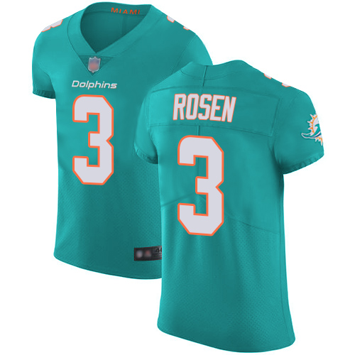 9d270fc697f Dolphins #3 Josh Rosen Aqua Green Team Color Men's Stitched Football Vapor  Untouchable Elite Jersey