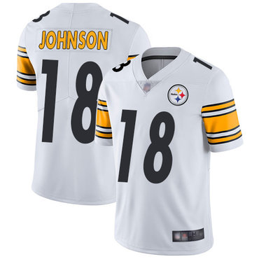Steelers #18 Diontae Johnson White Youth Stitched Football ...