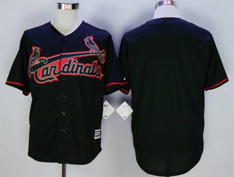 Women's St. Louis Cardinals Custom Black New Cool Base Jersey