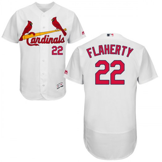 Men's St. Louis Cardinals #22 Jack Flaherty Authentic White Flex Base Home Collection Jersey