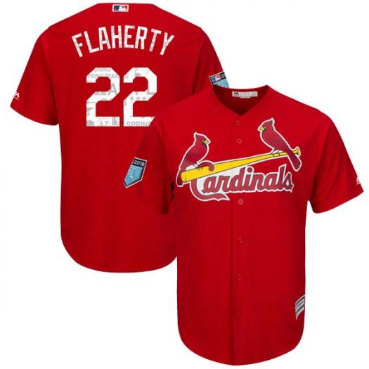 cc67181a Men's St. Louis Cardinals #22 Jack Flaherty Scarlet Cool Base 2018 Spring  Training Jersey