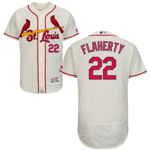 79aca9e8 Men's St. Louis Cardinals #22 Jack Flaherty Authentic Cream Flex Base  Alternate Collection Jersey