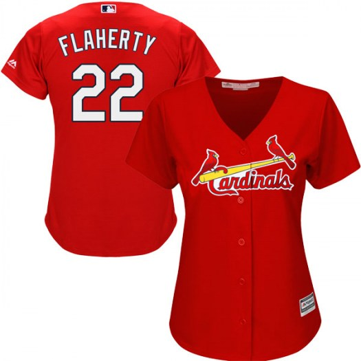 Women's St. Louis Cardinals #22 Jack Flaherty Authentic Scarlet Cool Base Alternate Jersey