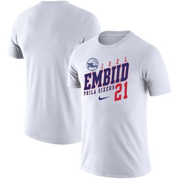 Joel Embiid Philadelphia 76ers Nike Player Performance T-Shirt White