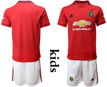 2019-20 Manchester United Youth Home Soccer Jersey