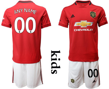 2019-20 Manchester United Customized Youth Home Soccer Jersey