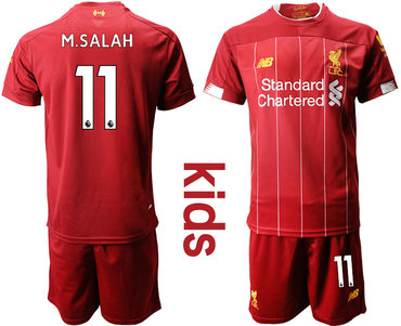 2019-20 Liverpool 11 M.SALAH Youth Home Soccer Jersey