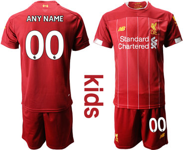 2019-20 Liverpool Customized Youth Home Soccer Jersey