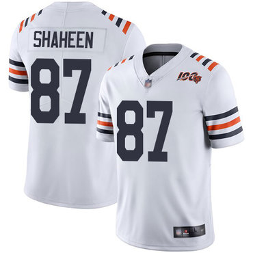 Bears #87 Adam Shaheen White Alternate Men's Stitched Football Vapor Untouchable Limited 100th Season Jersey