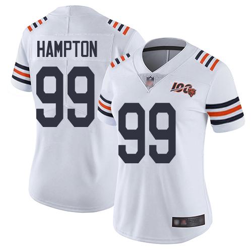 Bears #99 Dan Hampton White Alternate Women's Stitched Football Vapor Untouchable Limited 100th Season Jersey