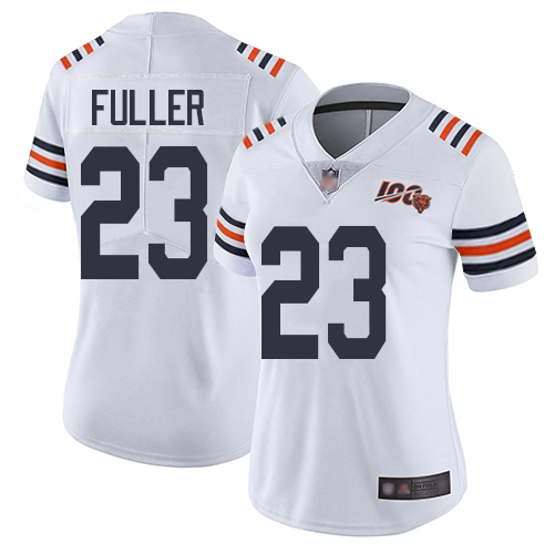 Bears #23 Kyle Fuller White Alternate Women's Stitched Football Vapor Untouchable Limited 100th Season Jersey