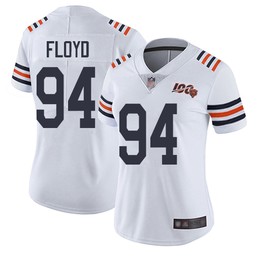 Bears #94 Leonard Floyd White Alternate Women's Stitched Football Vapor Untouchable Limited 100th Season Jersey