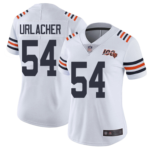 Bears #54 Brian Urlacher White Alternate Women's Stitched Football Vapor Untouchable Limited 100th Season Jersey