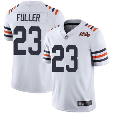 Bears #23 Kyle Fuller White Alternate Youth Stitched Football Vapor Untouchable Limited 100th Season Jersey