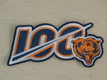 2019 Chicago Bears 100th Anniversary Seasons NFL Football Jersey Patch