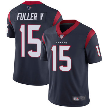 Texans #15 Will Fuller V Navy Blue Team Color Men's Stitched Football Vapor Untouchable Limited Jersey